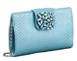 Carlos Falchi envelope clutch with crystals